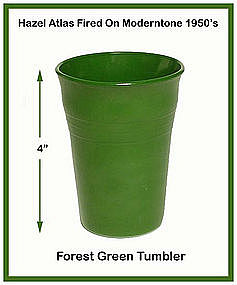 Moderntone Platonite Forest Green Flat Water Tumbler