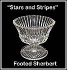 Hocking Glass Crystal Stars and Stripes Footed Sherbert
