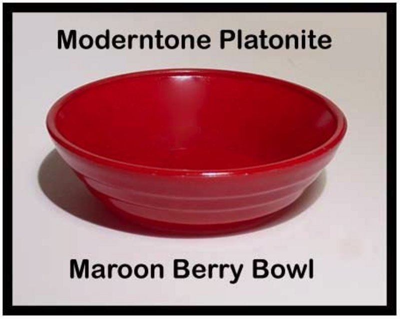Moderntone Platonite Maroon Berry Bowl