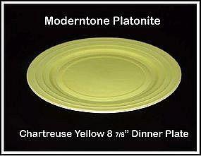 Moderntone Platonite Chartreuse Dinner Plate