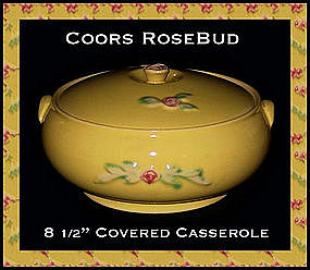 Coors Rose Bud Yellow Floral Casserole