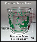 Fire King Bosco Bear Signed Libbey Drinking Glass #2