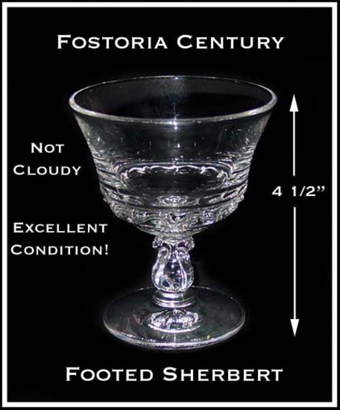 Fostoria Century Footed Ice Cream Sherbert/Dessert