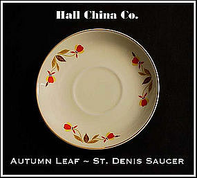 Hall China Autumn Leaf St. Denis Saucer Only