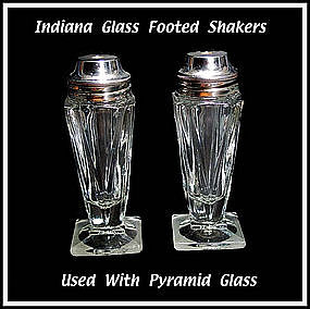 Vintage Indiana Pyramid Style SALT & PEPPER Shakers