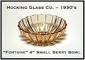 Hocking Glass Pink Fortune Small Berry Bowl