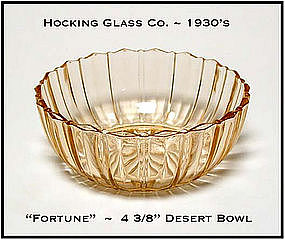 Hocking Glass Pink Fortune Small Dessert Bowl
