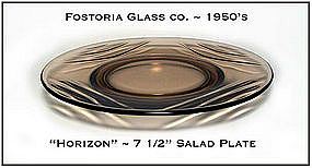 Fostoria Cinnamon Horizon Salad Plate 1950's