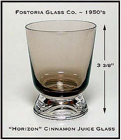 Fostoria Cinnamon Horizon Footed Juice Glass 1950's