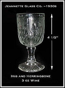 Iris and Herringbone Jeannette Glass 3 oz Wine Goblet