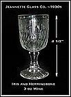 Iris and Herringbone Jeannette Glass 3 oz Wine Goblet