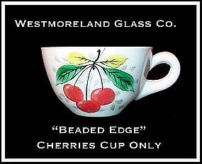 Westmoreland Beaded Edge Cherries Dec Coffee Cup Only