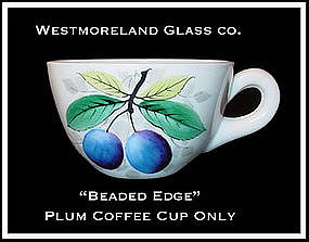 Westmoreland Beaded Edge Plum Dec Coffee Cup Only