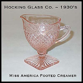 Miss America Pink Footed Creamer
