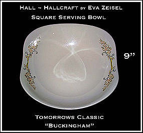 Hallcraft Eva Zeisel Buckingham Lg Square Salad Bowl