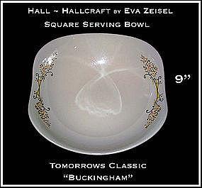 Hallcraft Eva Zeisel Buckingham Lg Square Salad Bowl