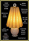 Aladdin Lamp G~186 Lamp W/Orig Shade~Label~Lighted Base