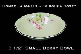 "HLC Virginia Rose 5 1/2"" Berry Bowls Plat Trim"