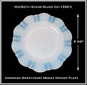 """MacBeth Evans American Sweetheart Monax 9 3/8"""" Plate"""
