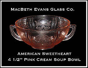 MacBeth Evans American Sweetheart Pink Cream Soup