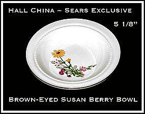 Hall China Sears Brown~Eyed Susan Berry Bowl