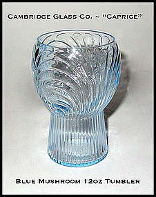Cambridge 1930s Blue Caprice 12 oz Mushroom Tumbler