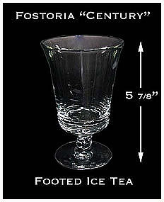 Fostoria Century Footed Ice Tea