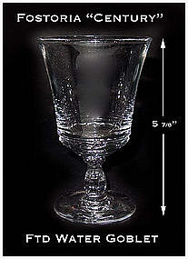 Fostoria Century Footed Water Goblet