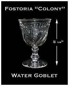 Fostoria Colony Footed Water Goblet