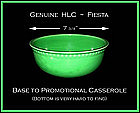 HLC~Genuine Fiesta Original Promotional Casserole Base