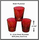 Ruby Flashed EAPG Shot Glasses