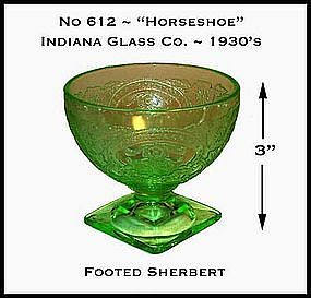Horseshoe No 612 Green Footed Sherbert