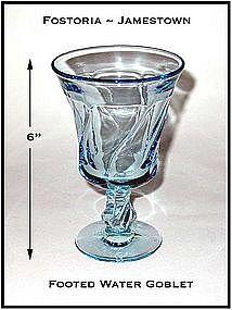 Fostoria Jamestown Blue Footed Water Goblet