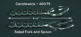 Candlewick ~  400/75 ~  Spoon & Fork Salad Set