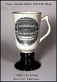 Hall Tri-State Pottery Festival Ftd Irish Coffee Mug