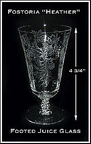 "Fostoria ""Heather"" 5 oz Footed Juice Glass"