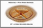 Miss America Pink 4 Part Divided Relish Dish