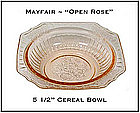 "Mayfair Open Rose Pink 5 1/2"" Cereal Bowl"