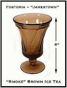 Fostoria Jamestown Smoke Brown Ftd Ice Tea Glass