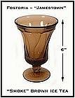Fostoria Jamestown Smoke Brown Ftd Ice Tea Glass
