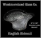 """Westmoreland English Hobnail 10"""" Basket"""