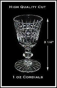 Fostoria Cut Crystal 1 oz Cordial