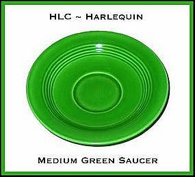 HLC Harlequin Original Med Green Saucer Only