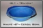 "HLC Riviera Mauve Blue 6 1/4"" Cereal Bowl"