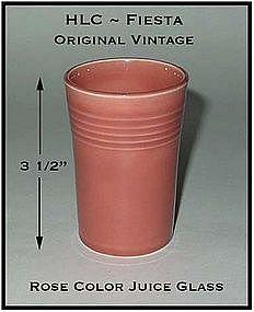 HLC Genuine Fiesta Unusual Rose Juice Glass