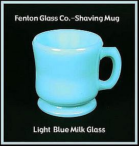 Fenton Light Blue Milk Glass Shaving Mug