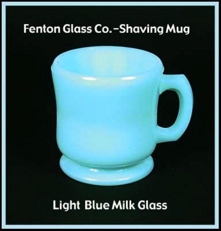 Fenton Light Blue Milk Glass Shaving Mug