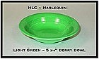 "HLC Harlequin Original Light Green 5 1/2"" Berry Bowl"
