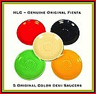 HLC Fiesta~5~Original Color Demitasse Saucers Only