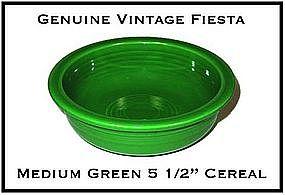 "HLC Fiesta Medium Green 5 1/2"" Cereal Bowl ~ Super!"